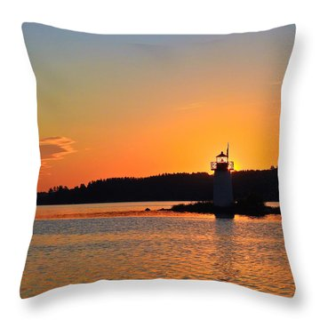 Lit By The Sun Throw Pillow