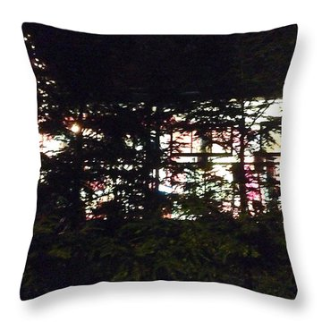 Throw Pillow featuring the photograph Lit Like Stained Glass by Felipe Adan Lerma