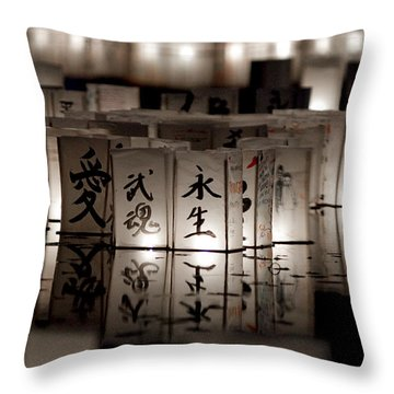 Lit Memories Throw Pillow by Greg Fortier