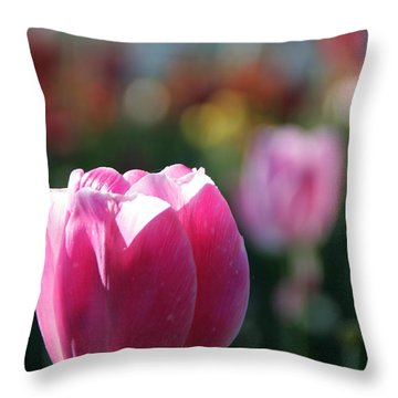 Lit Tulip 04 Throw Pillow