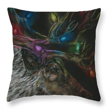 Lit Up Throw Pillow by Meagan  Visser