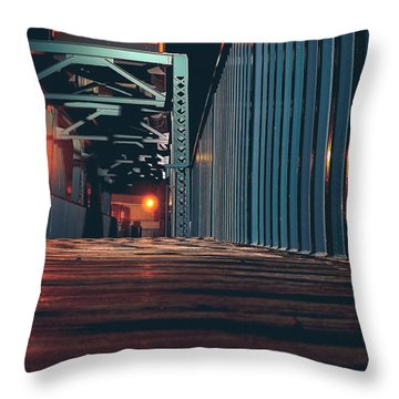 Throw Pillow featuring the photograph Lit Up by Viviana  Nadowski