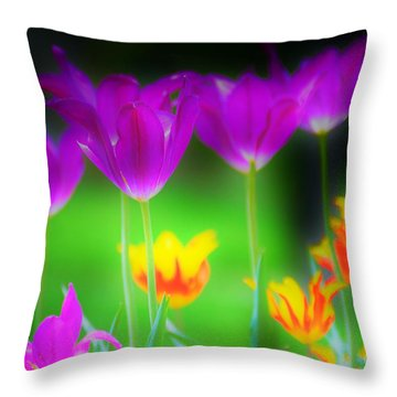 Lite From Below Throw Pillow