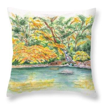 Lithia Park Reflections Throw Pillow