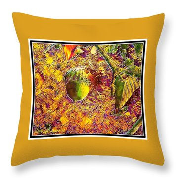 Little Acorn Throw Pillow by MaryLee Parker