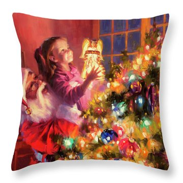 Little Angel Bright Throw Pillow