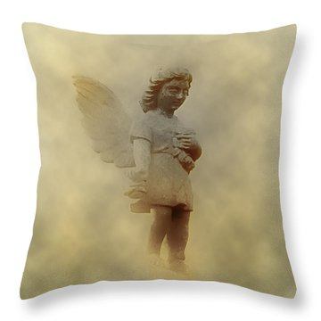Little Angel In The Clouds Throw Pillow by Bill Cannon