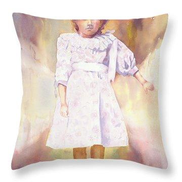 Little Anna Throw Pillow