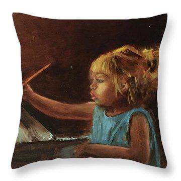 Little Artist Throw Pillow