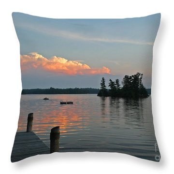 Little Bald Lake Throw Pillow