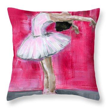Little Ballerina #2 Throw Pillow