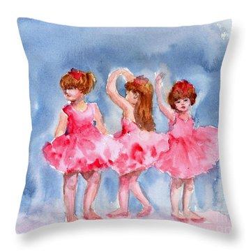 Little Ballerinas Throw Pillow