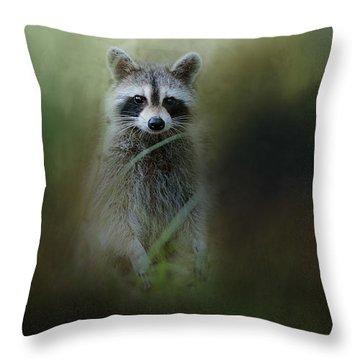 Little Bandit Throw Pillow by Jai Johnson