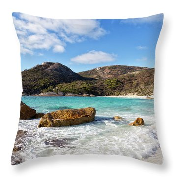 Throw Pillow featuring the photograph Little Beach Two Peoples Bay Nature Reserve by Ivy Ho