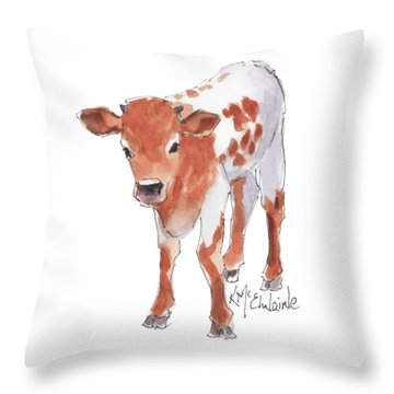 Little Beau April 2017 By Kathleen Mcelwaine Throw Pillow