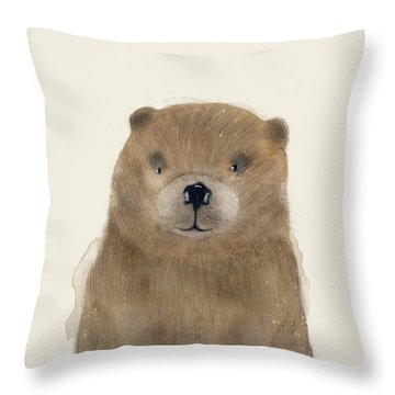 Throw Pillow featuring the painting Little Beaver by Bri B