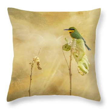 Little Bee-eater Throw Pillow