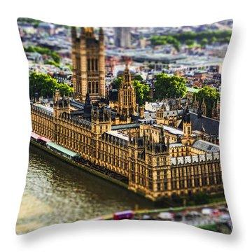 Little Ben Throw Pillow by Andrew Paranavitana