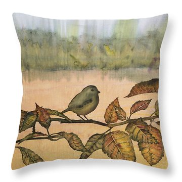Little Bird On A Branch Throw Pillow