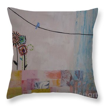 Little Birdie Throw Pillow