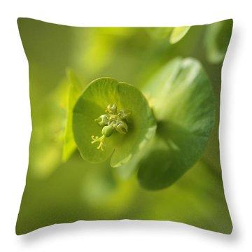 Green Power Throw Pillow