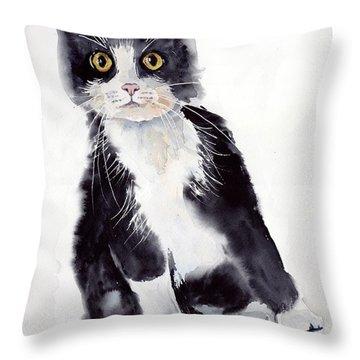 Little Black Scamp Throw Pillow