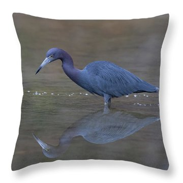 Little Blue Bubbles Throw Pillow