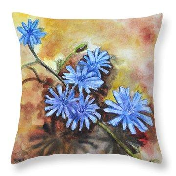Little Blues Throw Pillow by Jana Goode