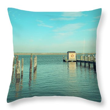 Throw Pillow featuring the photograph Little Boat House On The River by Colleen Kammerer