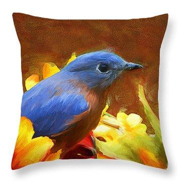 Little Boy Blue Throw Pillow by Tina  LeCour