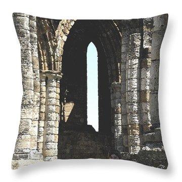 Little Boy Under The Arch Throw Pillow