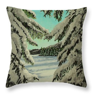 Little Brook Cove Throw Pillow