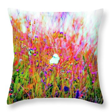 Little Butterfly Fly Throw Pillow