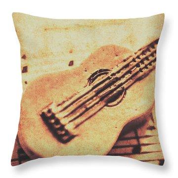 Folk Music Throw Pillows