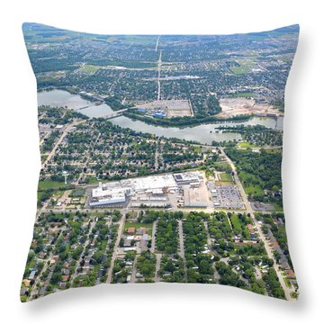 Little Chute Wrightstown Throw Pillow