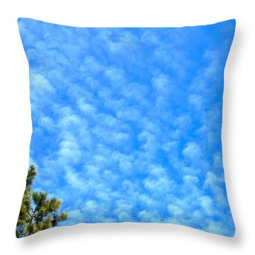 Little Clouds Throw Pillow