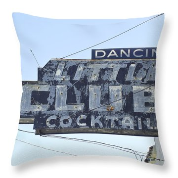 Little Club Cocktails Throw Pillow