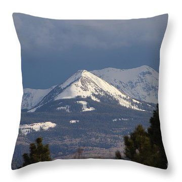 Little Cone Peak Colorado Throw Pillow