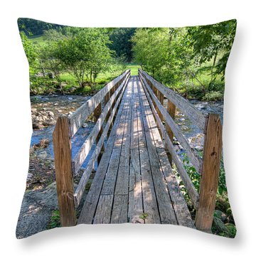 Throw Pillow featuring the photograph Little Country Bridge by Tim Stanley