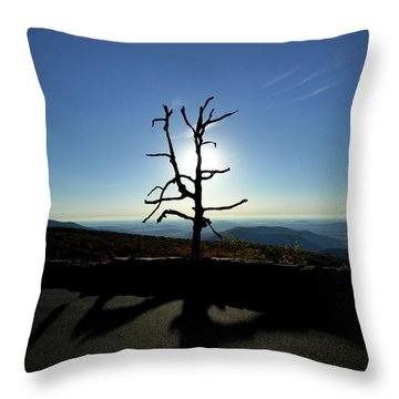 Throw Pillow featuring the photograph Little Devil Stairs Overlook by Robert Geary