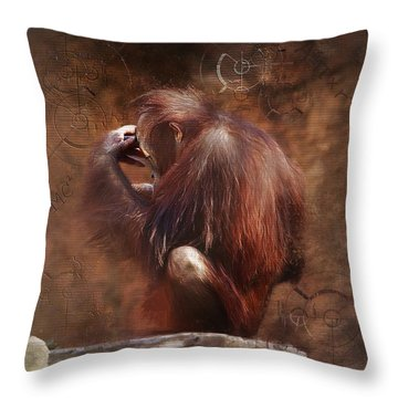 Throw Pillow featuring the photograph Little Einstein by Sharon Jones