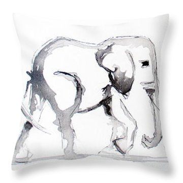 Little Elephant Family Throw Pillow