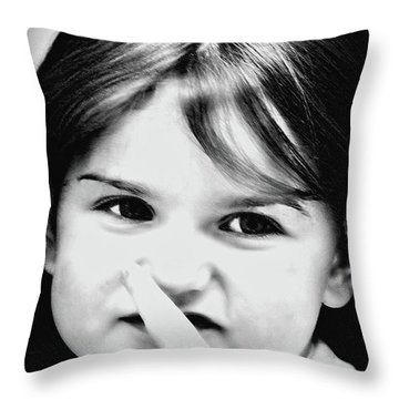 Little Emma Throw Pillow by Rena Trepanier