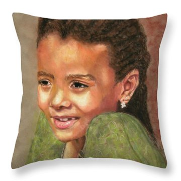 Little Evie Throw Pillow