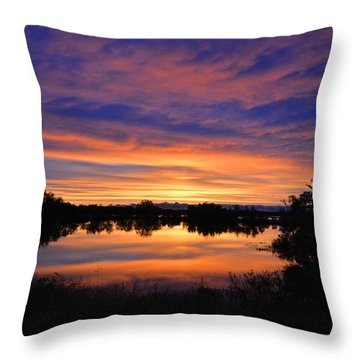 Little Fly Creek Sunset 1 Throw Pillow