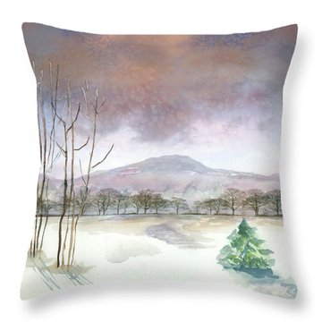 Little Forlorn Pine Throw Pillow by Arline Wagner