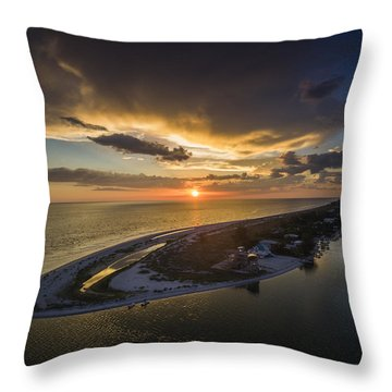 Little Gasparilla Island Point Sunset Throw Pillow