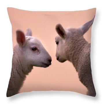 Little Gossips Throw Pillow