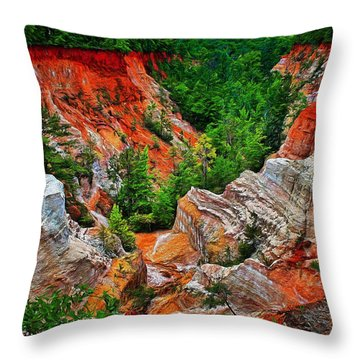 Little Grand Canyon Throw Pillow
