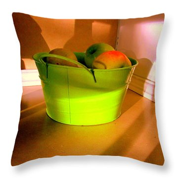 Little Green Apples Throw Pillow